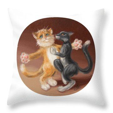The Painting About Love  Throw Pillow