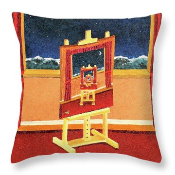 The Paintings Within Throw Pillow
