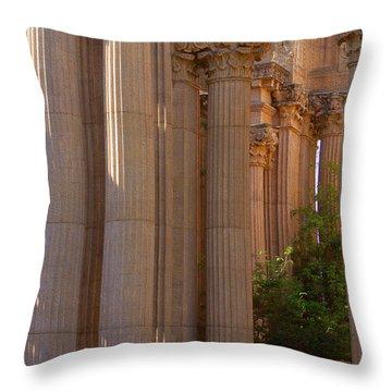 The Palace Columns Throw Pillow