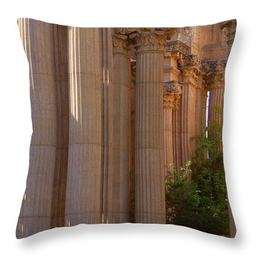 The Palace Columns Throw Pillow