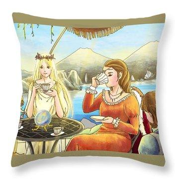 The Palace Garden Tea Party II Throw Pillow