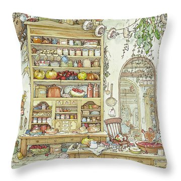 The Palace Kitchen Throw Pillow
