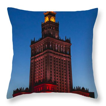 The Palace Of Culture And Science  Throw Pillow
