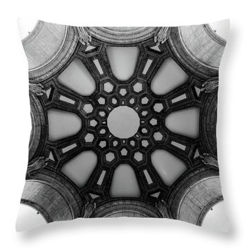 The Palace Of Fine Arts Dome Throw Pillow