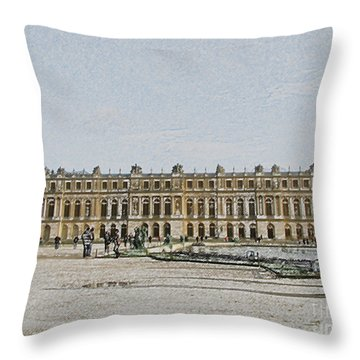 The Palace Of Versailles Throw Pillow by Amanda Barcon
