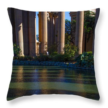 The Palace Pond Throw Pillow