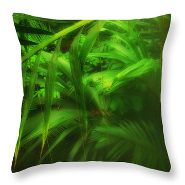 Throw Pillow featuring the photograph The Palm Forest  by Connie Handscomb