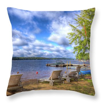 Throw Pillow featuring the photograph The Palmer Point Beach by David Patterson