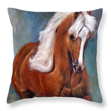 The Palomino 2 Throw Pillow by Barbie Batson
