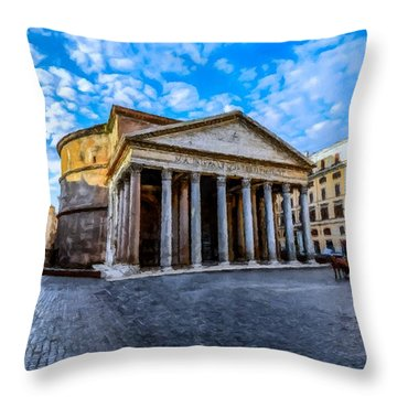The Pantheon Rome Throw Pillow
