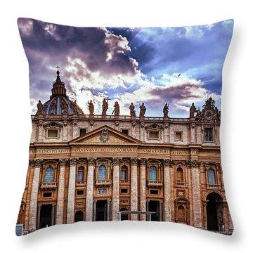 The Papal Basilica Of Saint Peter Throw Pillow