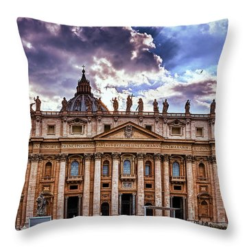 The Papal Basilica Of Saint Peter Throw Pillow
