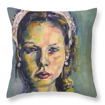 The Paper Lace Crown Queen Throw Pillow