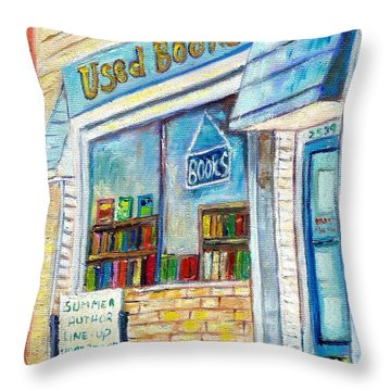 The Paperbacks Plus Book Store St Paul Minnesota Throw Pillow
