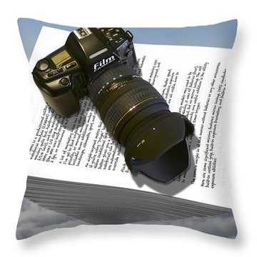 The Paperweight Throw Pillow by Mike McGlothlen
