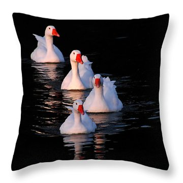 Throw Pillow featuring the photograph The Parade by Howard Bagley