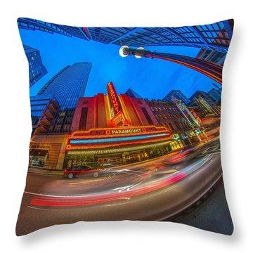 The Paramount Boston Ma Throw Pillow