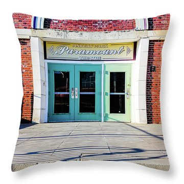 Throw Pillow featuring the photograph The Paramount Theatre by Colleen Kammerer