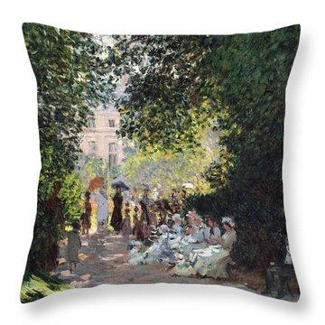 The Parc Monceau Throw Pillow by Claude Monet