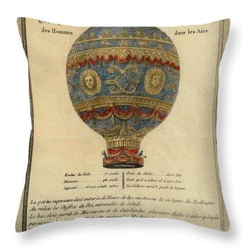 The Paris Ascent Throw Pillow