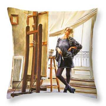 The Paris Studio Throw Pillow by Andy Lloyd