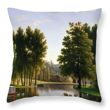 The Park At Mortefontaine Throw Pillow by Jean Bidauld