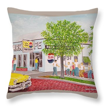 The Park Shoppe Portsmouth Ohio Throw Pillow by Frank Hunter