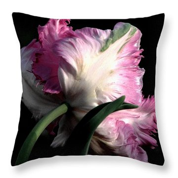 The Parrot Tulip Queen Of Spring Throw Pillow