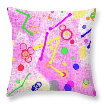 Throw Pillow featuring the digital art The Party Is Here by Silvia Ganora