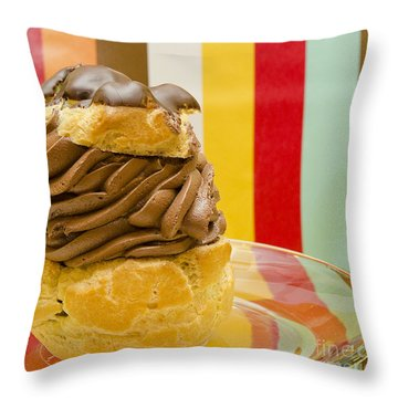 The Party Puff Throw Pillow by MaryJane Armstrong