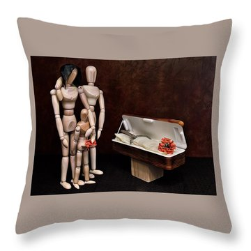 Throw Pillow featuring the photograph The Passing Of Grandpa Woody by Mark Fuller