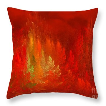 Throw Pillow featuring the digital art The Passion  Forest - Fantasy Art By Giada Rossi by Giada Rossi