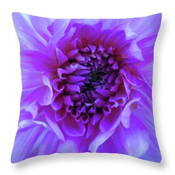 The Passionate Dahlia Throw Pillow