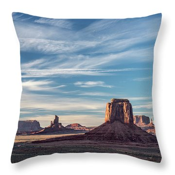 Throw Pillow featuring the photograph The Past by Jon Glaser