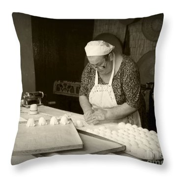 The Pastry Maker, Sardinia Throw Pillow