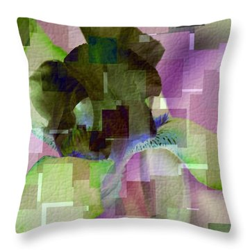 The Patchwork Iris Throw Pillow