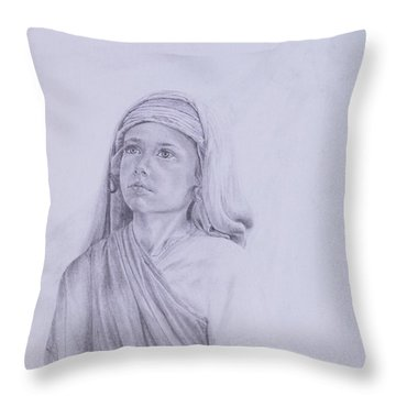 The Path Before Him From The Life Of Jesus Series Throw Pillow by Susan Harris