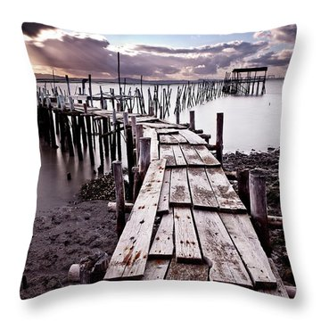The Path Throw Pillow by Jorge Maia
