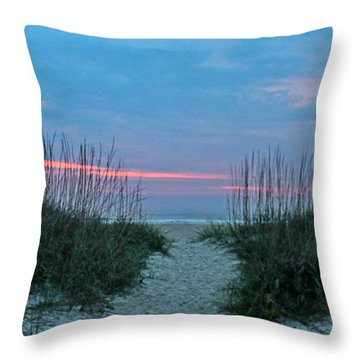 The Path Throw Pillow by LeeAnn Kendall