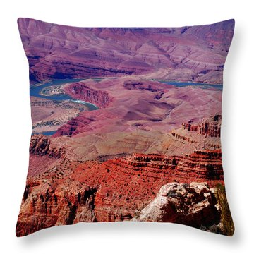 The Path Of The Colorado River Throw Pillow by Susanne Van Hulst