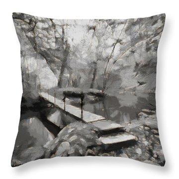 The Path To Nirvana Throw Pillow