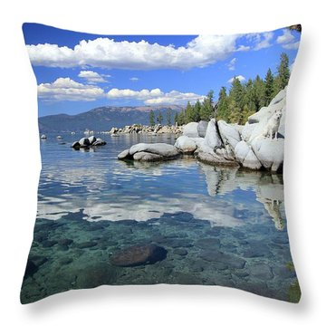 Throw Pillow featuring the photograph The Path To Reflection by Sean Sarsfield