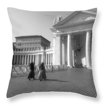 The Path To Temple Throw Pillow