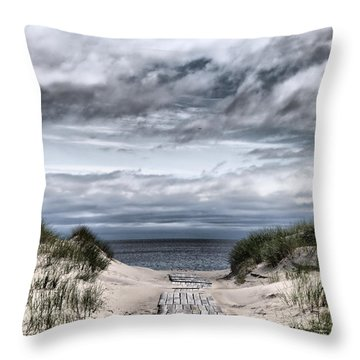 The Path To The Beach Throw Pillow by Jouko Lehto