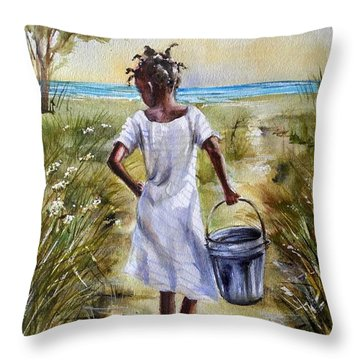 The Path To The Sea Throw Pillow