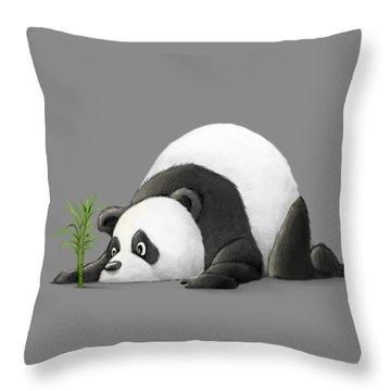 The Patient Panda Throw Pillow