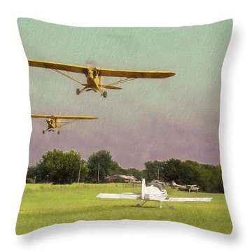 Throw Pillow featuring the photograph The Pattern Is Full by James Barber