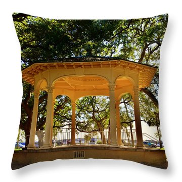 The Pavilion At Battery Park Charleston Sc  Throw Pillow