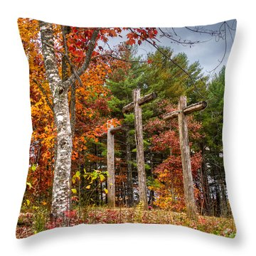The Peace That Passes All Understanding Throw Pillow by Debra and Dave Vanderlaan