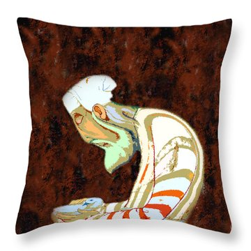 The Peaceful Man Throw Pillow by David Lee Thompson